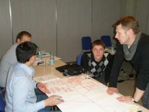 Строим диаграмму оказания услуг на тренинге креативности