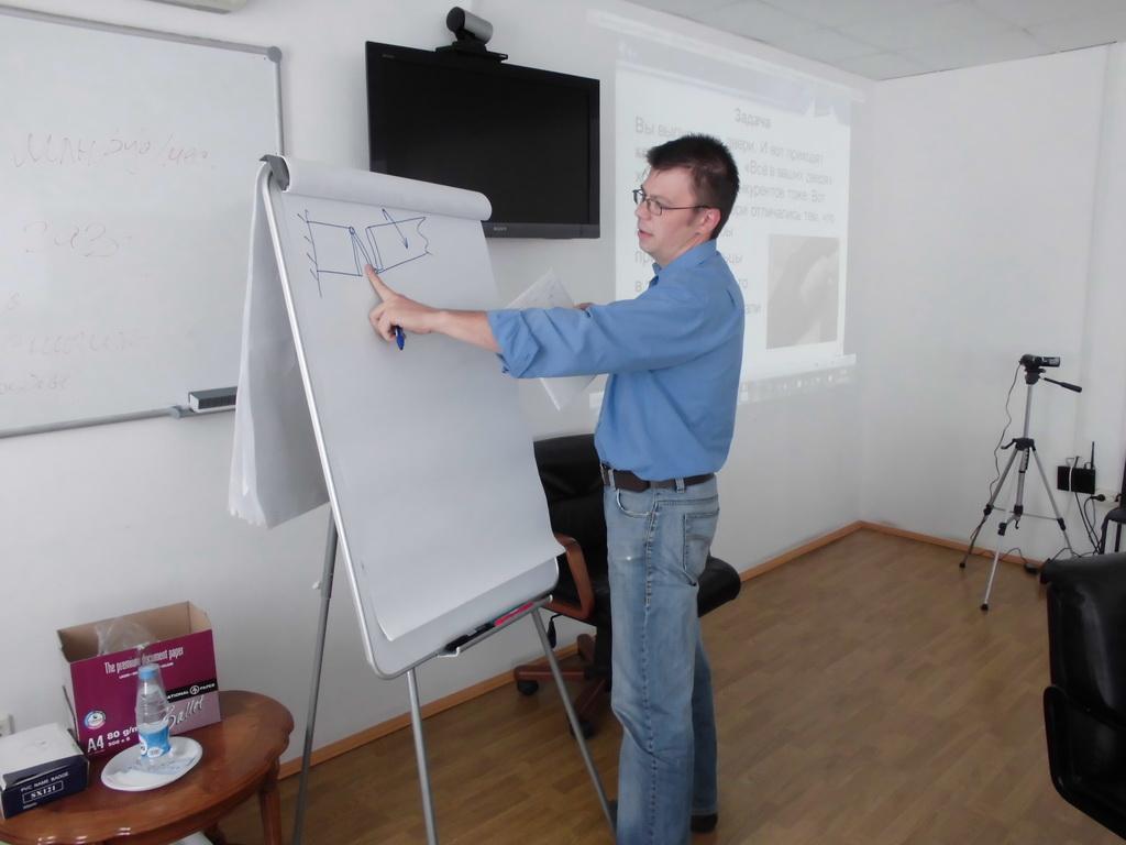 работа у доски Челябинск 2013 Семинар по ТРИЗ